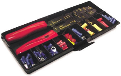 Terminal & Crimping Tool Kit, Insulated, 100-Pc.