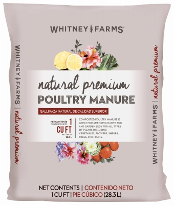Natural Premium Poultry Manure, 1-Cu. Ft.