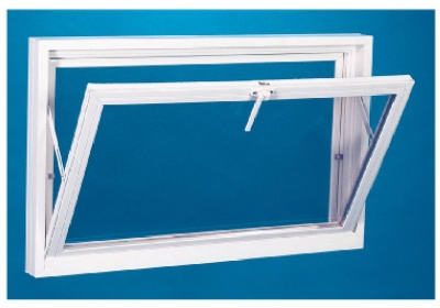 Basement Window With Screen, White Vinyl, 32-3/16 x 14-In.