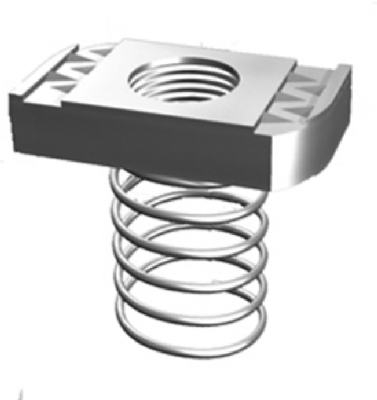 5-Pack 1/4-Inch Spring Nuts