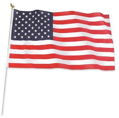 U.S. Flag Kit, Poly/Cotton, 3 x 5-Ft.