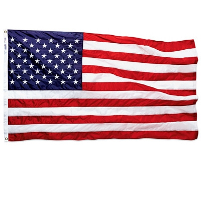 Nylon Replacement U.S. Flag, 2-1/2 x 4-Ft.
