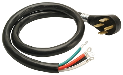 4-Ft. 6/2 & 8/2 SRDT Black Round Range Cord