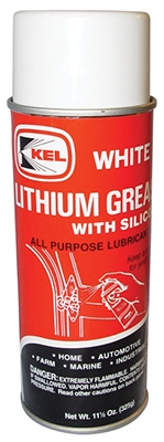 White Lithium Grease with Silicone, 11.5-oz.