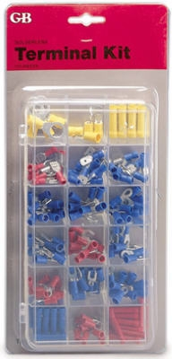Terminal & Connector Kit, Assorted, 175-Pc.
