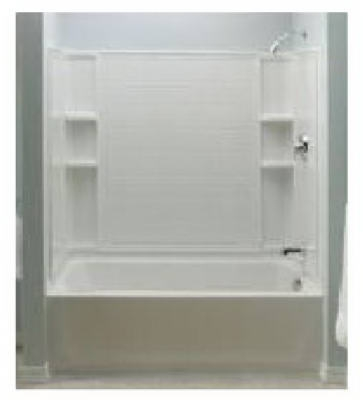 Ensemble Bathtub, Left-Hand, High-Gloss White, 5-Ft.