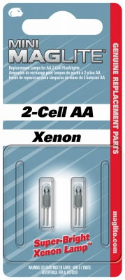 2-Pack 'AA' XENON Mini Incandescent Replacement Lamp