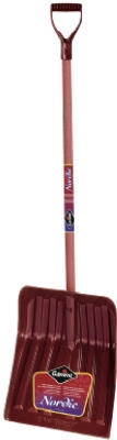 Nordic Snow Shovel, 13-7/8 In. Poly Blade, Hardwood D-Handle