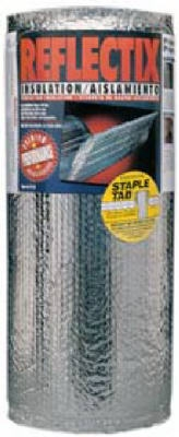 Reflective Insulation, Double Bubble Foil, Staple Tab, 16-In. x 25-Ft.