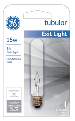 15-Watt Clear Exit Sign Light Bulb