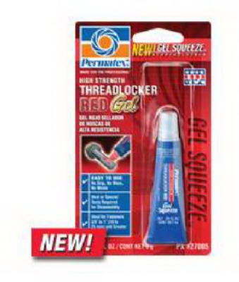 High-Strength Red Gel Threadlocker, 5-Grams