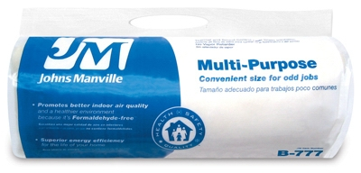 R6.7 Unfaced Multi-purpose Fiberglass Insulation, 5.33 Sq. Ft. Coverage, 2 x 16 x 48-In. Roll