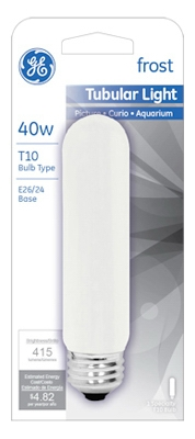 40-Watt Frosted Tubular Light Bulb