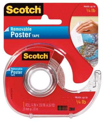 Wallsaver 3/4 x 150-Inch Removable Poster Tape