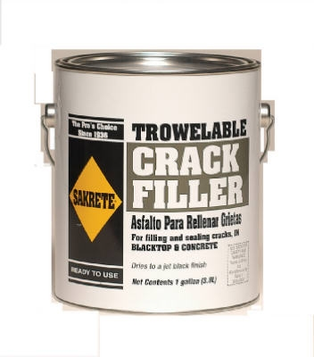 Trowelable Asphalt/Blacktop Crack Filler, 1-Gallon