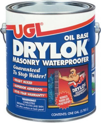 Masonry Waterproofing Paint, Oil-Base, White, 1-Gal.