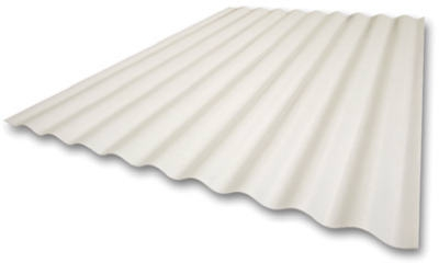 26-Inch x 10-Ft. Super 600 Heavy-Duty White Fiberglass Panel