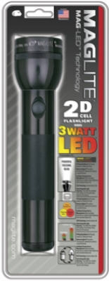 Mag-LED Flashlight, 134-Lumens, Black Aluminum