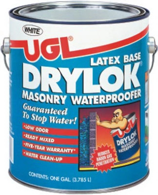Latex Masonry Waterproofing Paint, White, 1-Gal.