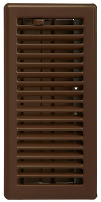 Contemporary Floor Register, Oil Rubbed Bronze, 4 x 12-In.
