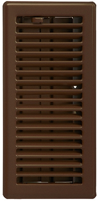 Contemporary Floor Register, Oil Rubbed Bronze, 4 x 10-In.