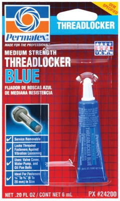 Blue Threadlocker, Medium-Strength, 6-mL