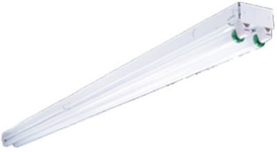 Metalux Fluorescent Light Fixture, T8, 2-Lamp, 8-Ft., 118-Watt Home ...