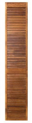 Bi-Fold Closet Door, Full Louver, Stainable Pine, 24 x 80 x 1-1/8-In.