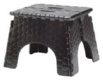 Black E-Z Fold Stepstool