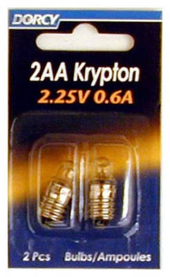2-Pack 2 'AA' Krp222 Krypton Bulb
