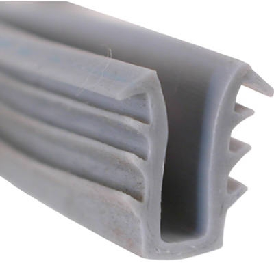 1/4-Inch x 200-Ft. Gray Vinyl Glazing Channel