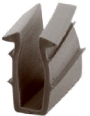 9/32-Inch x 200-Ft. Gray Vinyl Glazing Channel