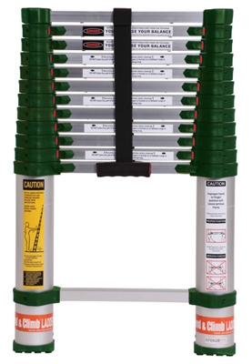 Xtend & Climb 2-1/2 to 12-1/2 Ft. Type 1A Telescoping Aluminum Ladder 300-Lb. Duty Rating