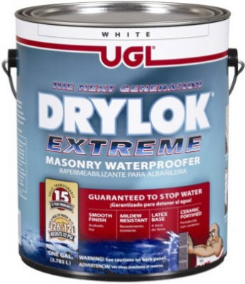 Extreme Masonry Waterproofer, Latex, White, 1-Gal.