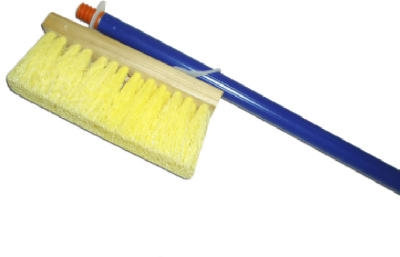 Roofing Brush, Poly & Wood, 7-In.