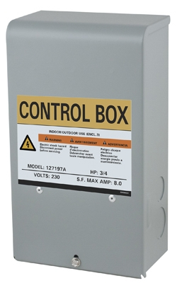 Flint & Walling Control Box For Submersible Pump, .5-HP Motor, 230-Volt