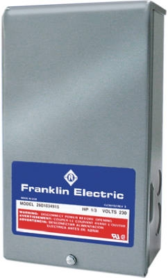 Franklin Control Box For 3-Wire Water Pumps, 1-HP Motor, 230-Volt