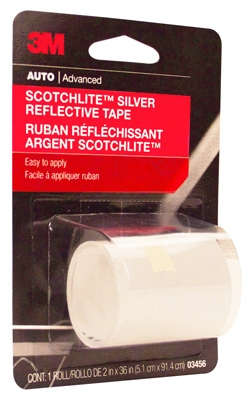 Reflective Safety Tape, Silver, 2 x 36-In.