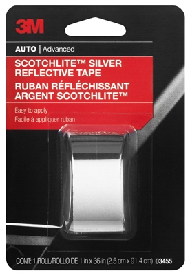 Reflective Safety Tape, Silver, 1 x 36-In.
