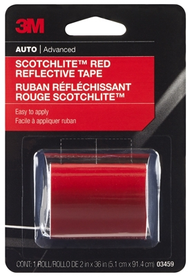 Reflective Safety Tape, Red, 2 x 36-In.