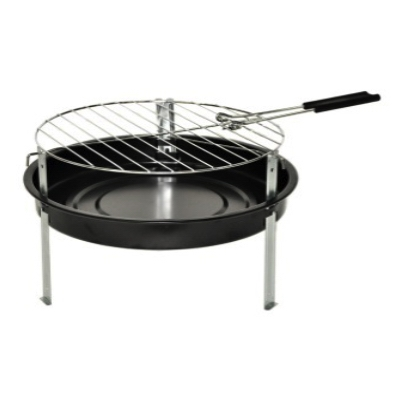 Portable Charcoal Grill + 1.2-Lbs. of Charcoal, 12-In.