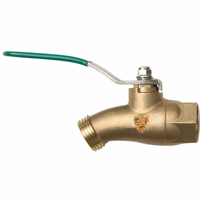 No-Kink Ball Valve, Quarter Turn, Lead-Free, 1/2 FIP x 3/4-In. Hose Thread
