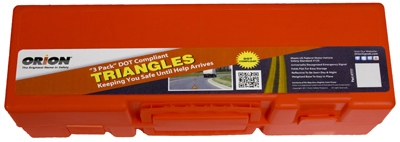 Roadside Safety Triangle Kit, Orange, 3-Pc.