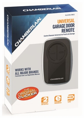 Garage Door Opener, Universal Remote Control, Black