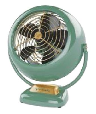 VFan Junior Vintage Air Circulator, Green Metal