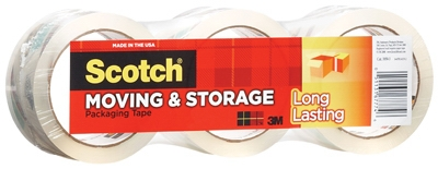 Moving Packaging Tape, 1.88-In. x 54.6-Yd., 3-Pk.