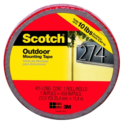 Extreme Mounting Tape, 1-In. x 33.3-Ft.