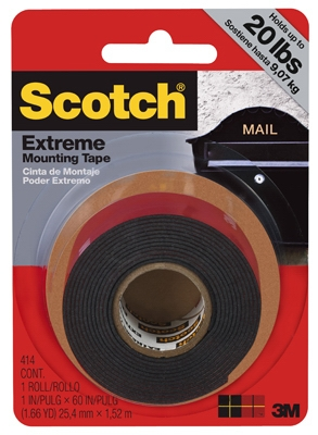 Extreme Mounting Tape, 1-In. x 5-Ft.