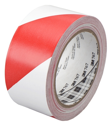 Safety Stripe Tape Red & White