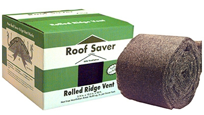 Rolled Ridge Vent, 3/4 x 10.5-In. x 20-Ft.